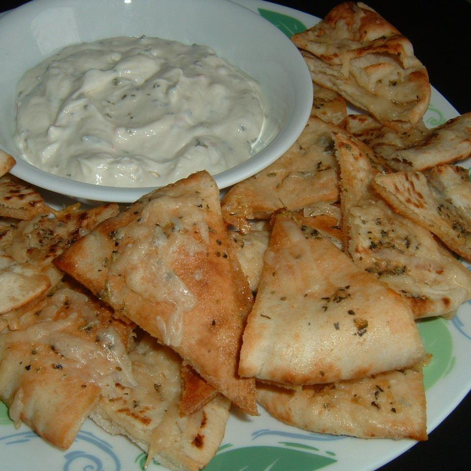 Garlic Pita Bread Bites