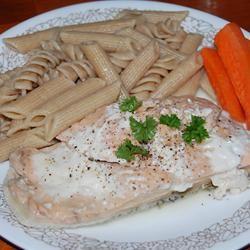 Pan-Poached Alaskan Salmon Piccata kw