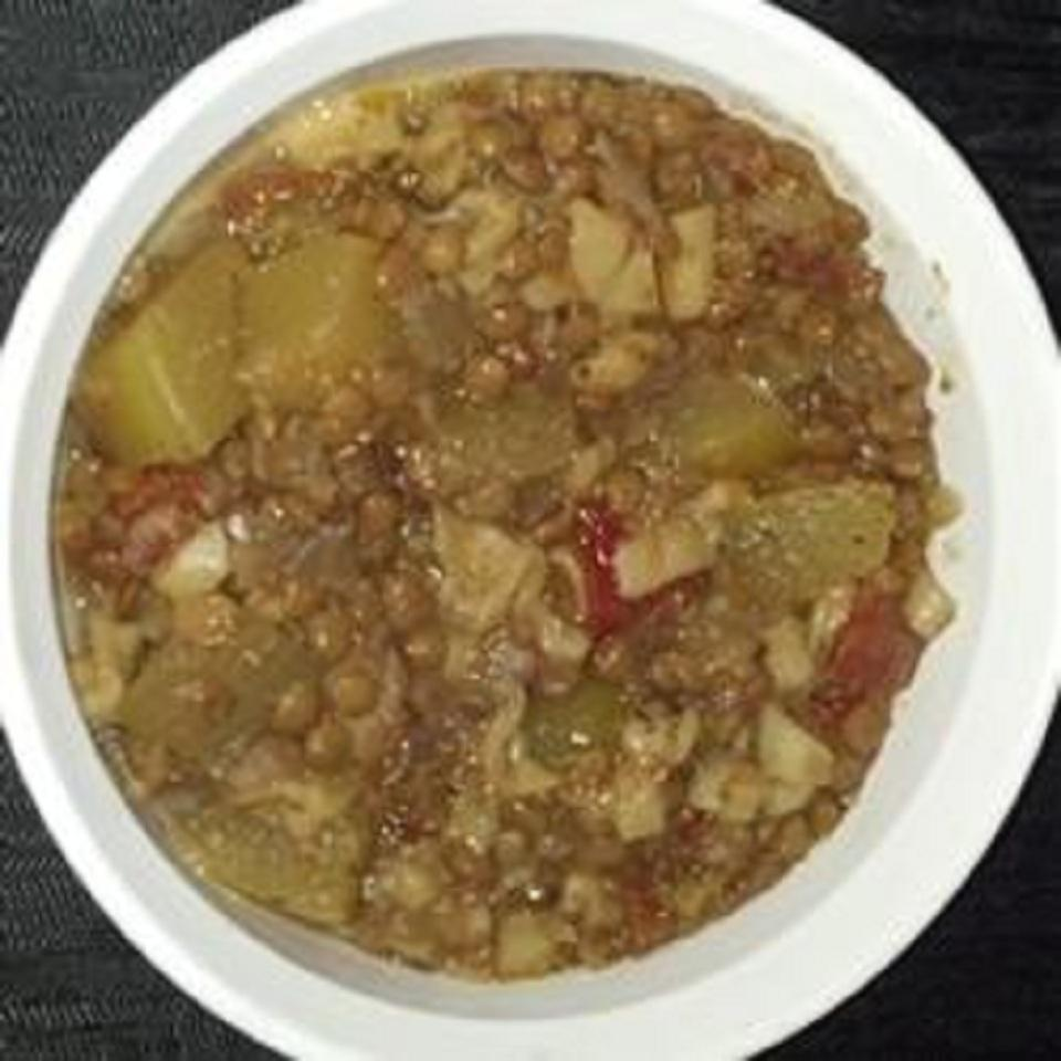 Green Lentil and Zucchini Soup