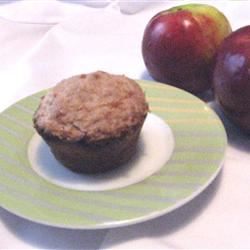 Jumbo Fluffy Walnut Apple Muffins