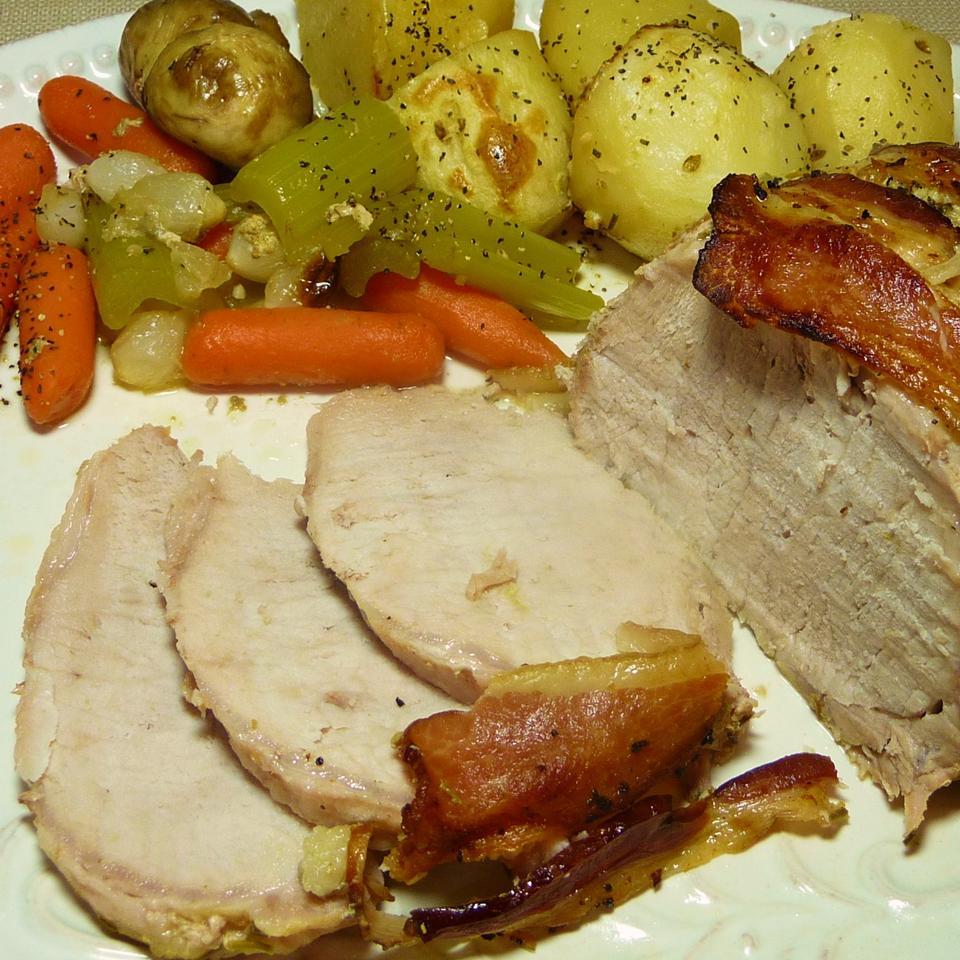 Herb, Garlic and Bacon Pork Loin Kraig