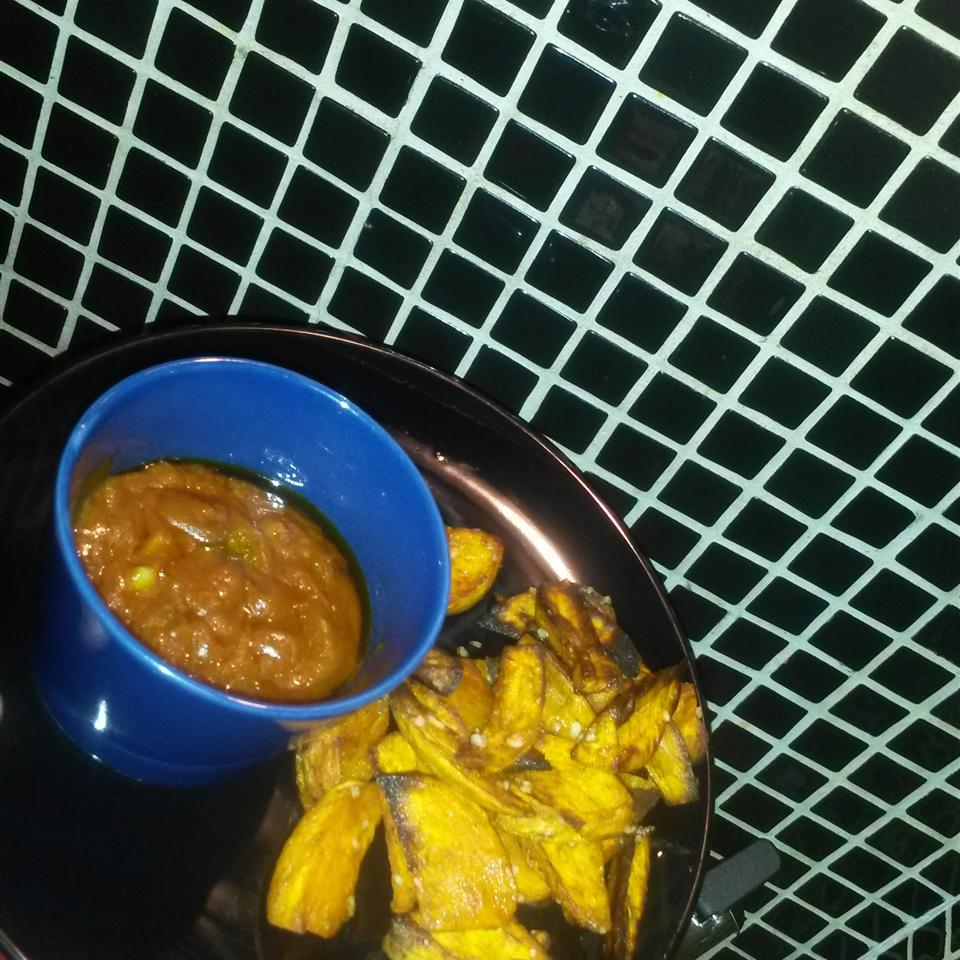 Easy Sweet Potato Fries with Curry Ketchup Ahmed Adareh (ADA)