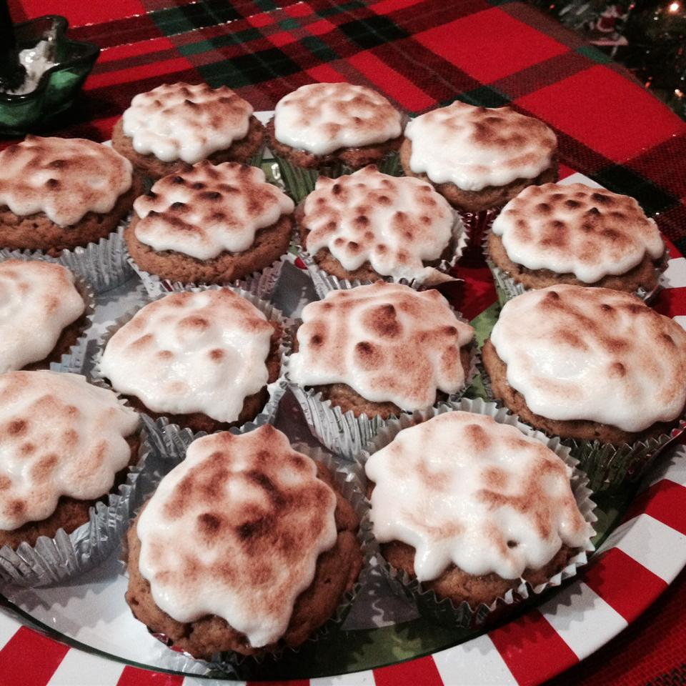 Sweet Potato Cupcakes with Toasted Marshmallow Frosting Jackie