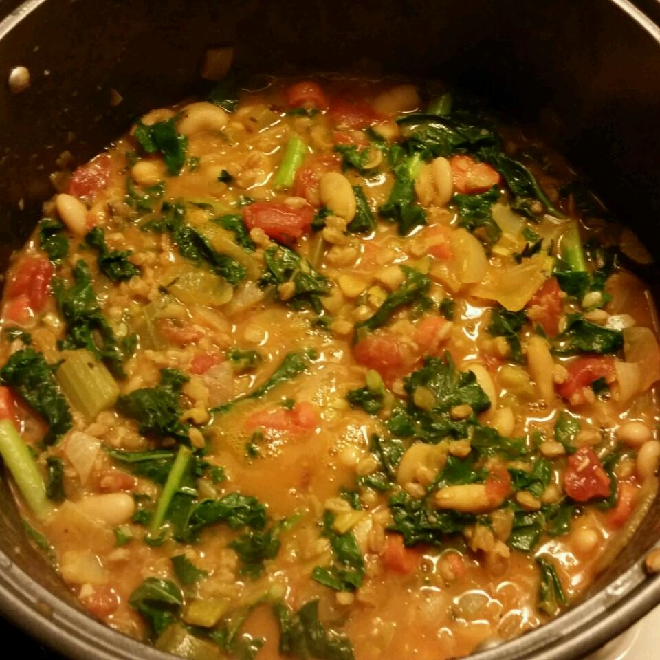 Kale, White Bean, and Farro Stew