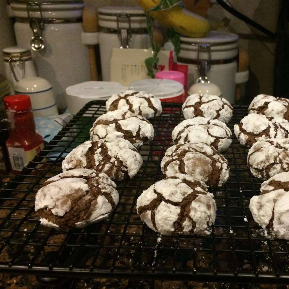 Chocolate Mint Crinkle Cookies