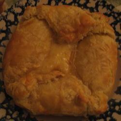 Baked Brie in Puff Pastry pinksnowflakeliz