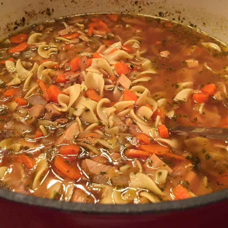 Homemade Turkey Soup AmyWA