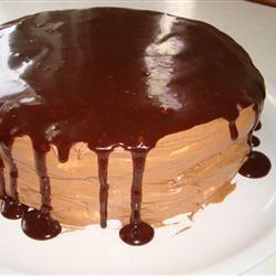 Chocolate Cinnamon Hazelnut Meringue Cake