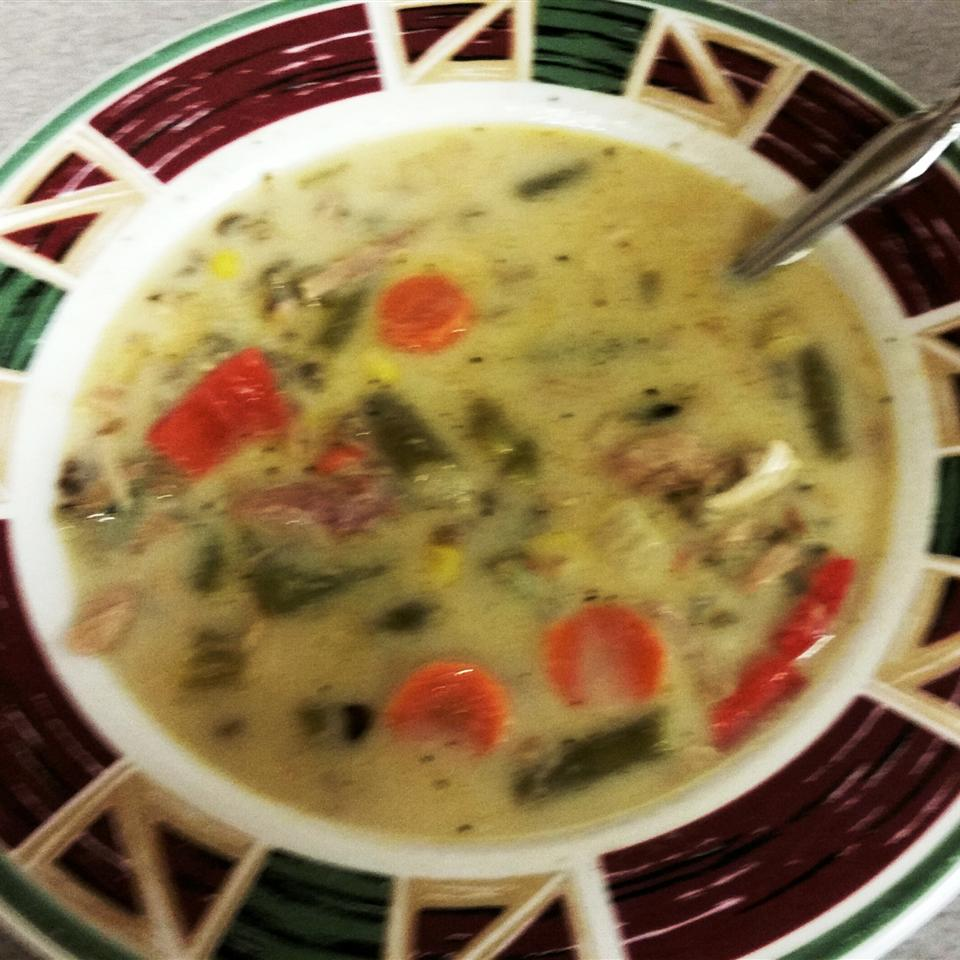 Smoked Turkey Rice Soup OlaTysh