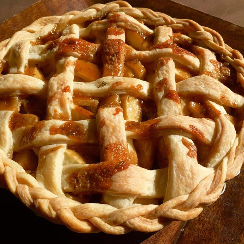 Rosemary-Thyme Apple Pie