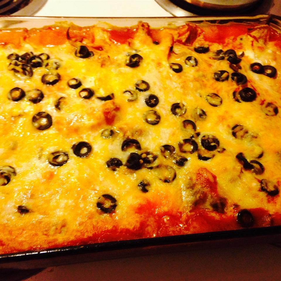 Cottage Cheese Chicken Enchiladas