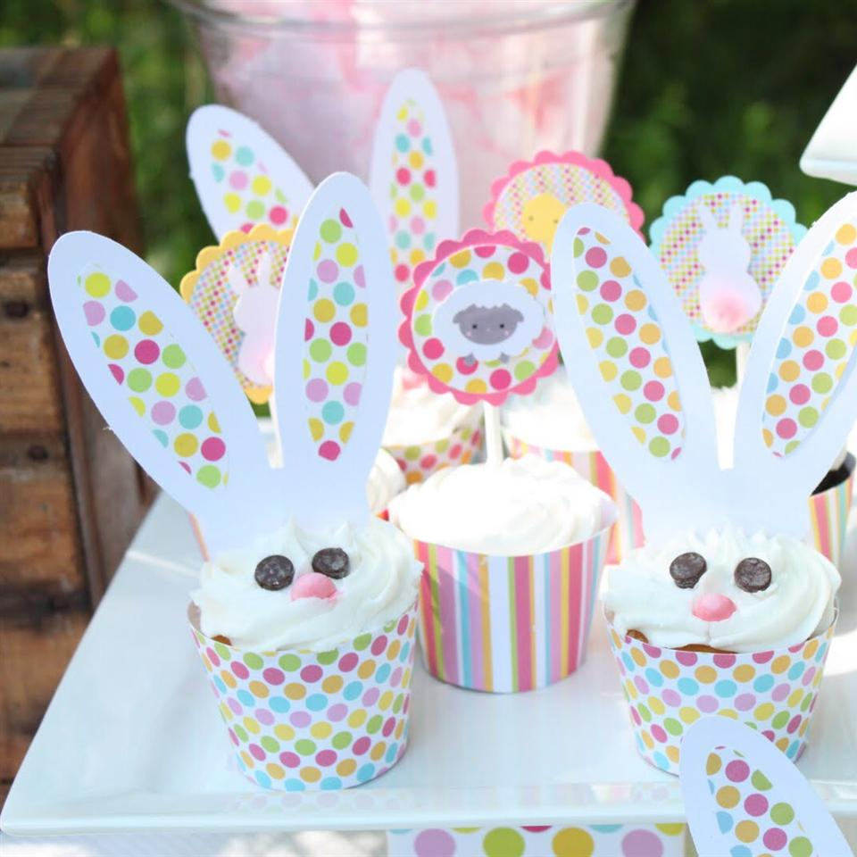"Easy to make Easter bunny cupcakes for kids of all ages! ""These are such cute cupcakes for Easter,"" says thepurplebaker. ""Your family will love them. My family went crazy when I made them."""