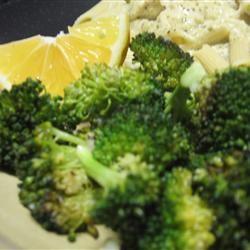 Roasted Garlic Lemon Broccoli