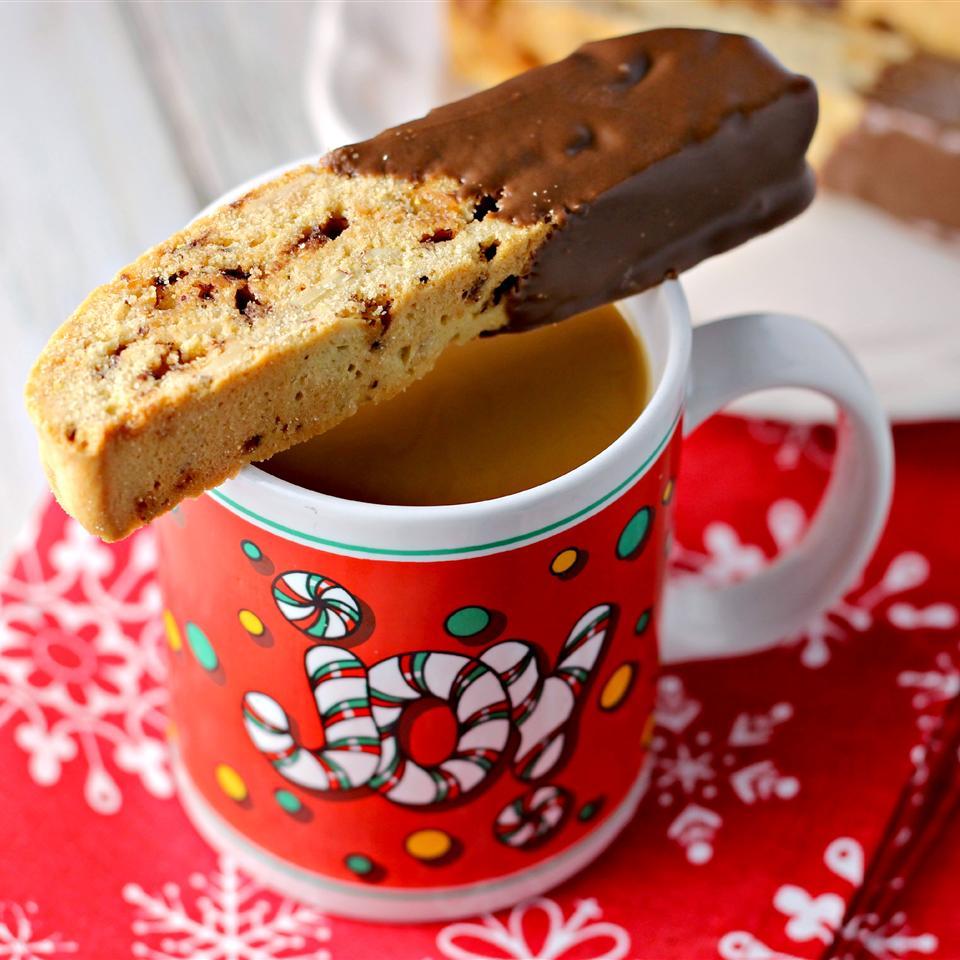 Chocolate-Dipped Pistachio Biscotti ReneePaj
