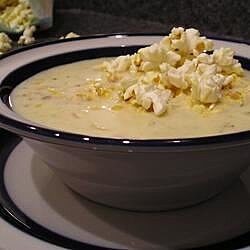 popcorn soup corn chowder recipe