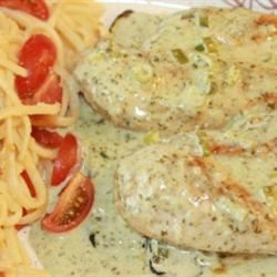 Lime Chicken with Cilantro Cream Sauce and Roasted Zucchini Ruth A. Nash