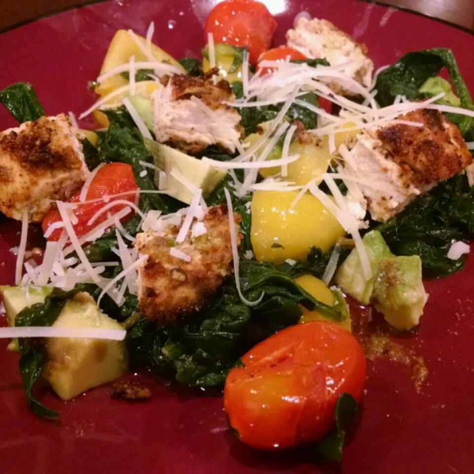 Spinach Salad with Pistachio Chicken Kevin Mershon