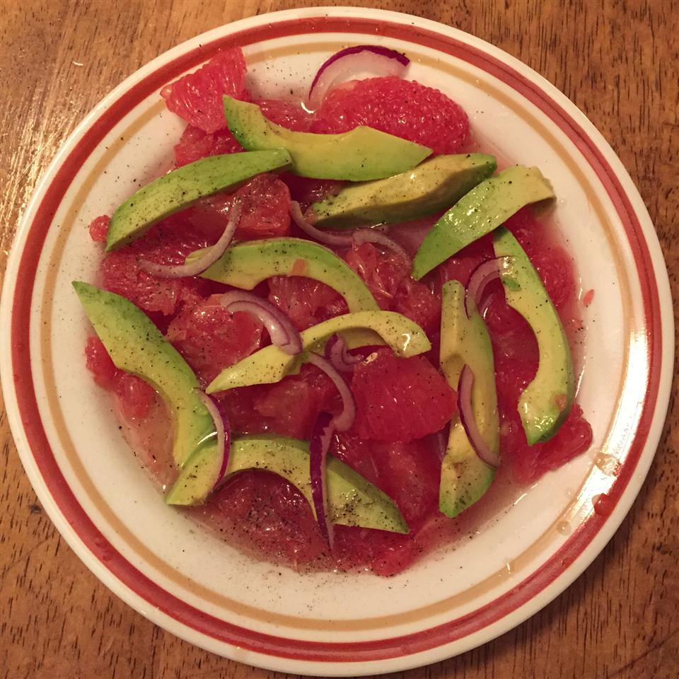Grapefruit and Avocado Salad jaye wall
