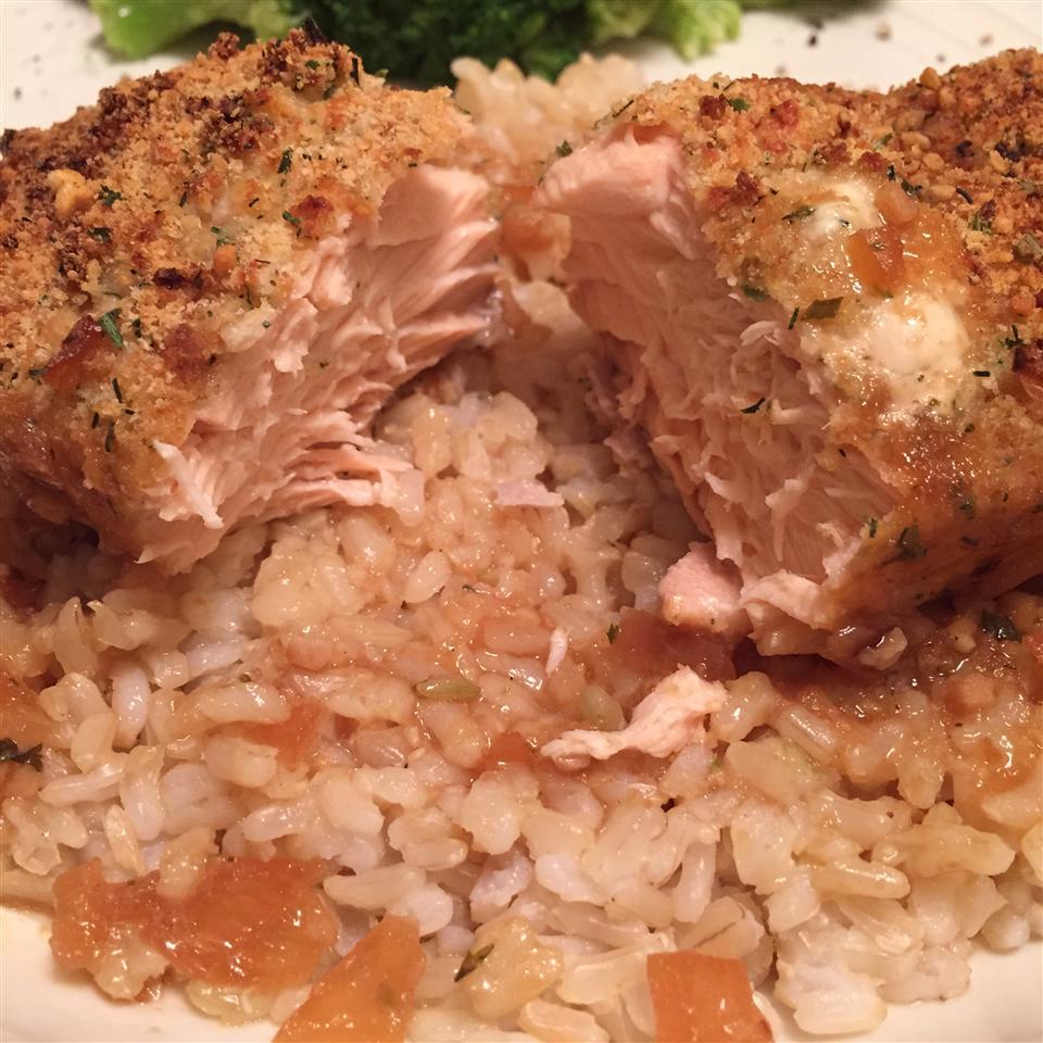 Parmesan Crusted Salmon tracykaydunn