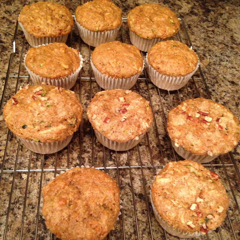 Carrot, Apple, and Zucchini Muffins Kare