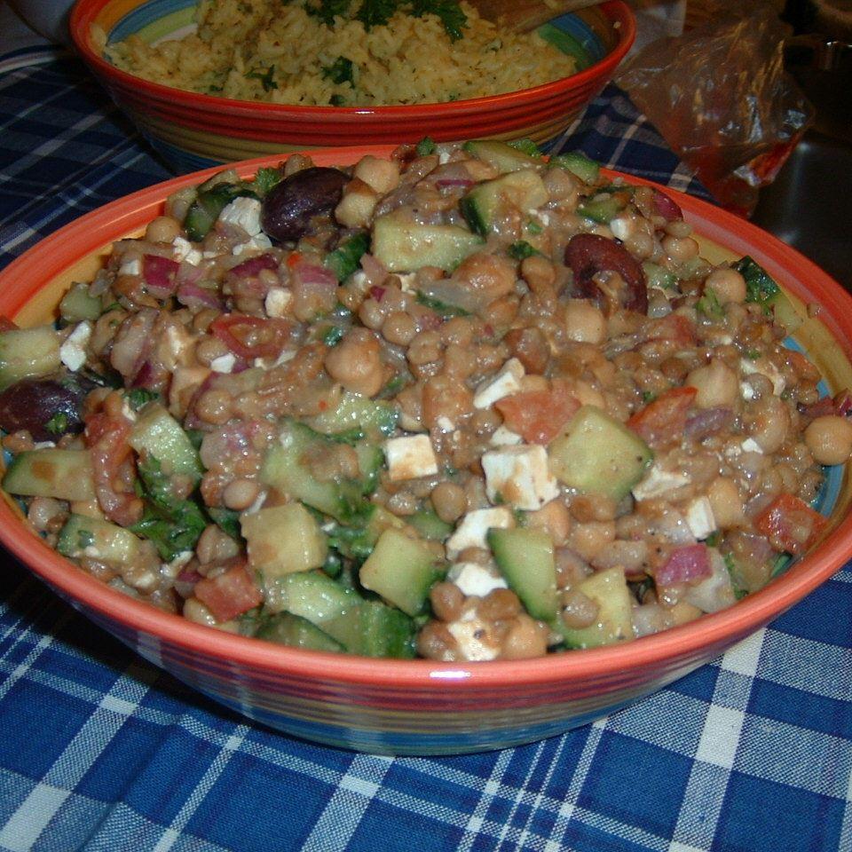 Greek Lentil Salad Wendee