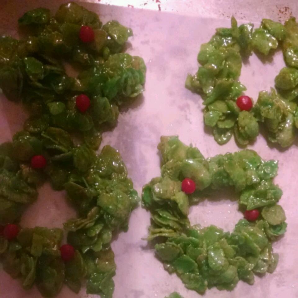 Christmas Cornflake Wreath Cookies Lisa M. Harms-Maynard