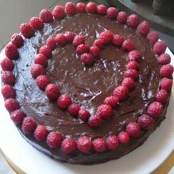 Deep Chocolate Raspberry Cake
