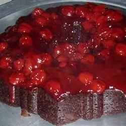 Chocolate Cherry Upside Down Cake