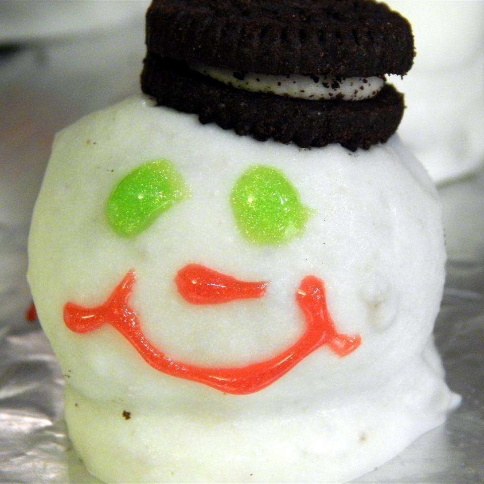 Melting Snowmen OREO Cookie Balls Alison Berry