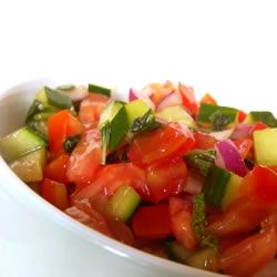 Tomato Cucumber Salad with Mint SunFlower