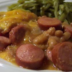 Beans and Franks Applesauce Bake