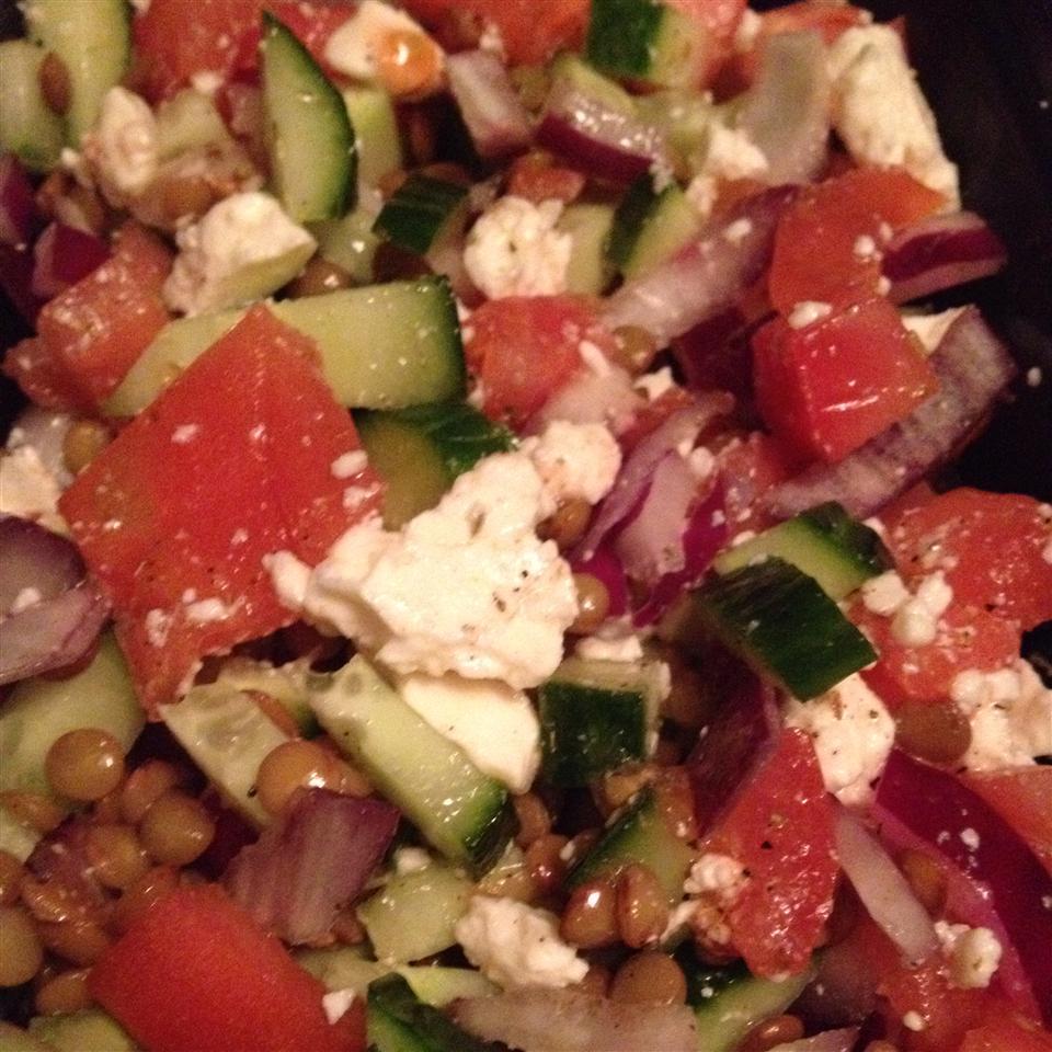 Greek Lentil Salad newdayvow