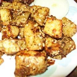 Oven Fried Sesame Potatoes Holly J Chadwick