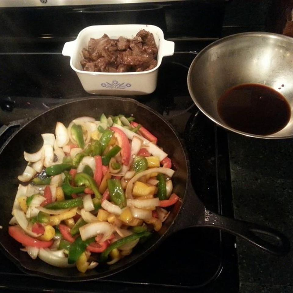 Venison Steak with Peppers and Onions Gary L. Mace