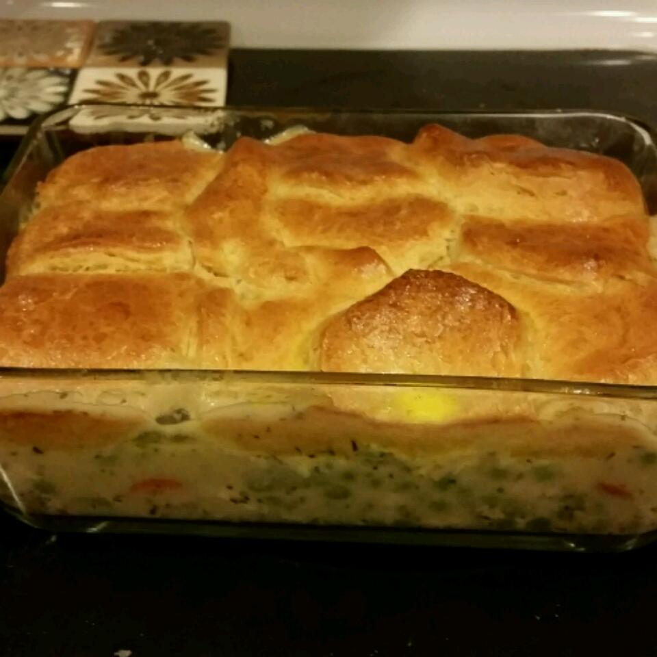 Mom's Fabulous Chicken Pot Pie with Biscuit Crust