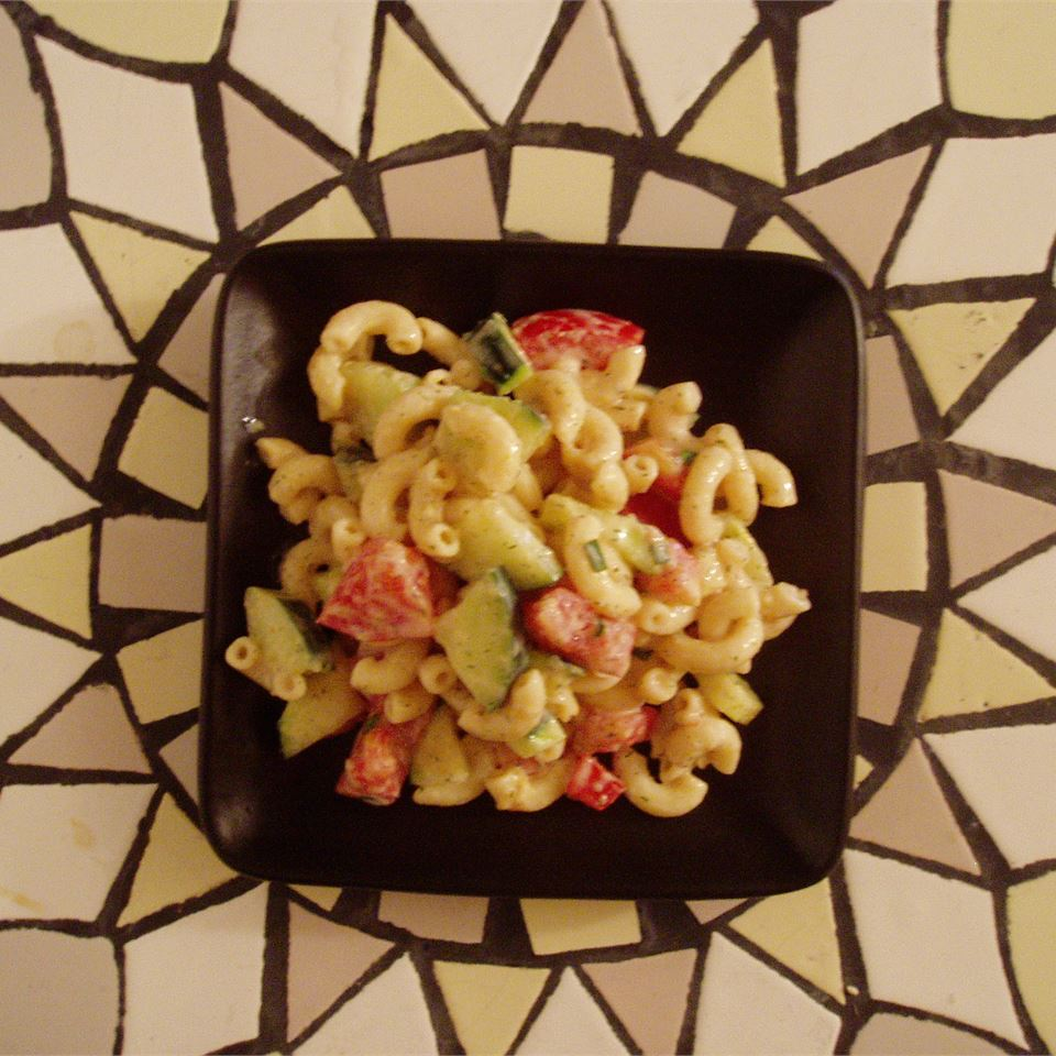Cucumber and Dill Pasta Salad MELISKATISH