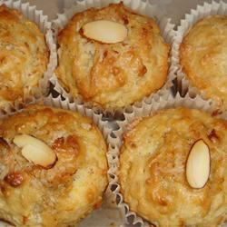 Golden Coconut Almond Muffins candy-kisses