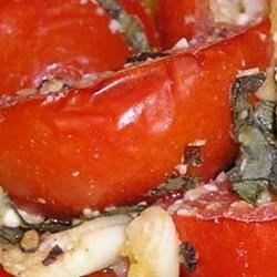 Peppers Roasted with Garlic, Basil and Tomatoes SQUIA