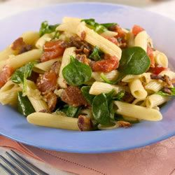 Penne Pasta with Spinach and Bacon Allrecipes Trusted Brands