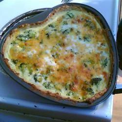 Broccoli Quiche with Mashed Potato Crust Maggie Moor