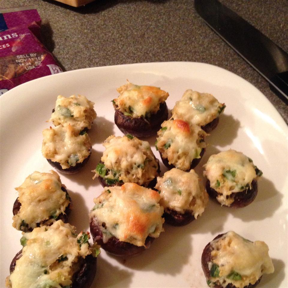 Perfect Crab-Stuffed Mushrooms Missy Cosby