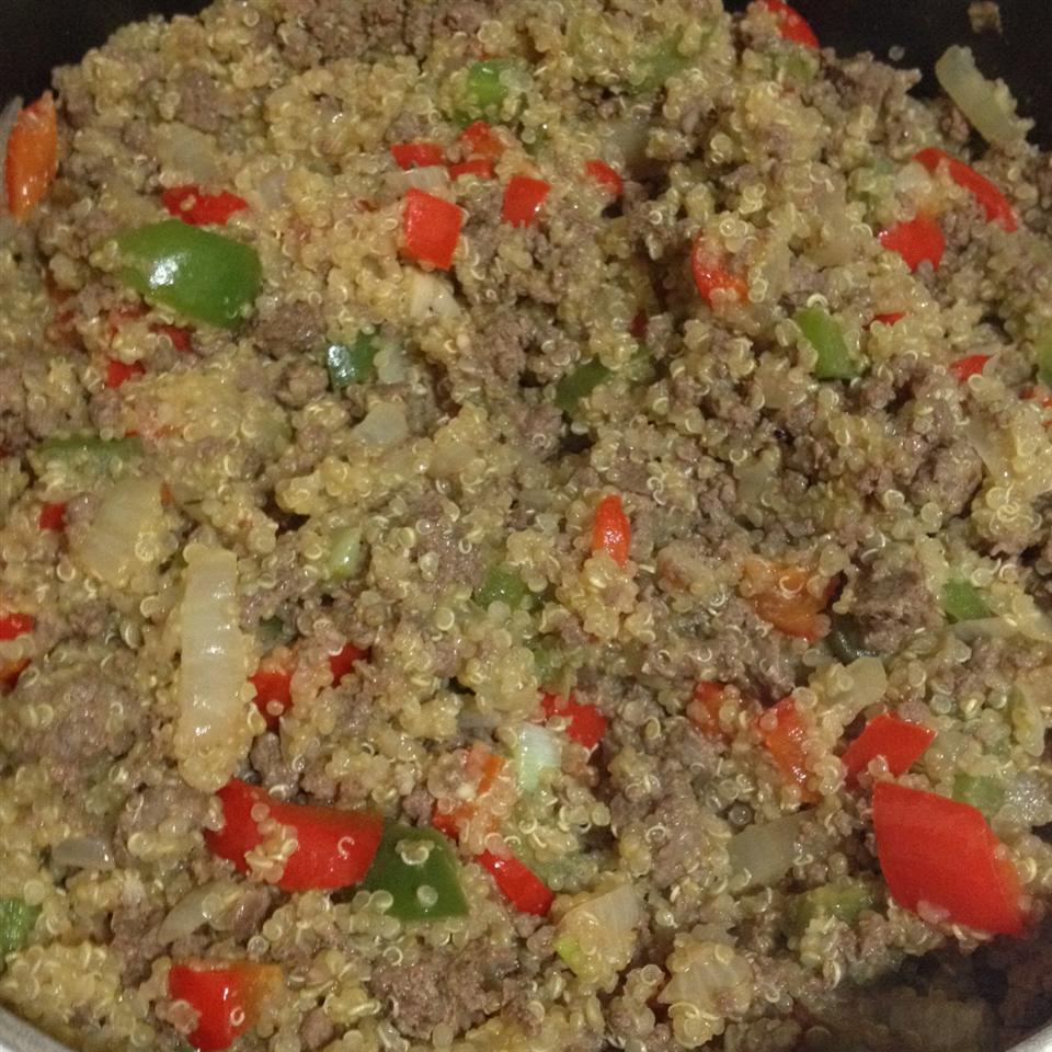 Dirty Quinoa with Venison Burger Jo