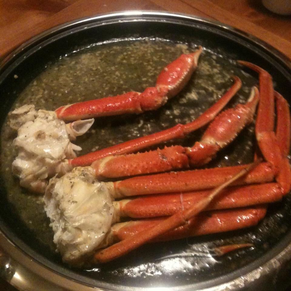 Crab Legs with Garlic Butter Sauce Diana Powers