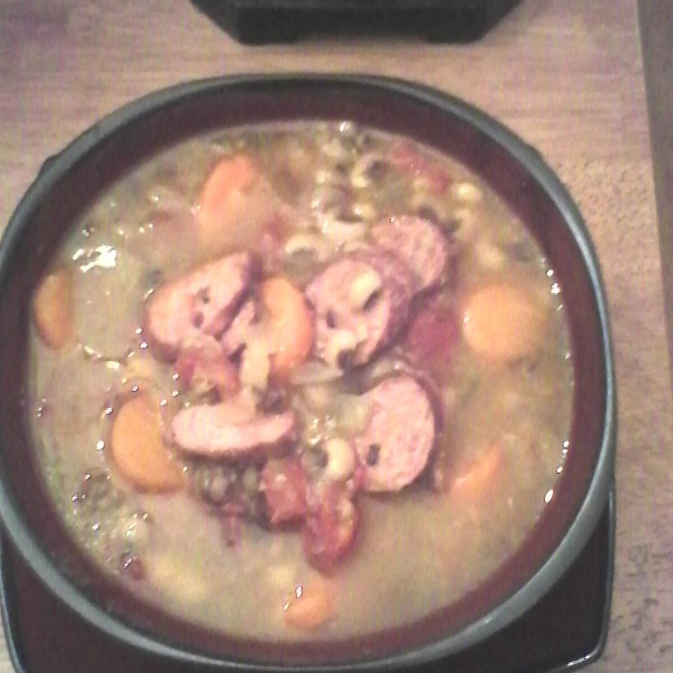 Slow Cooker Black-Eyed Pea and Sausage Soup ARoseT5