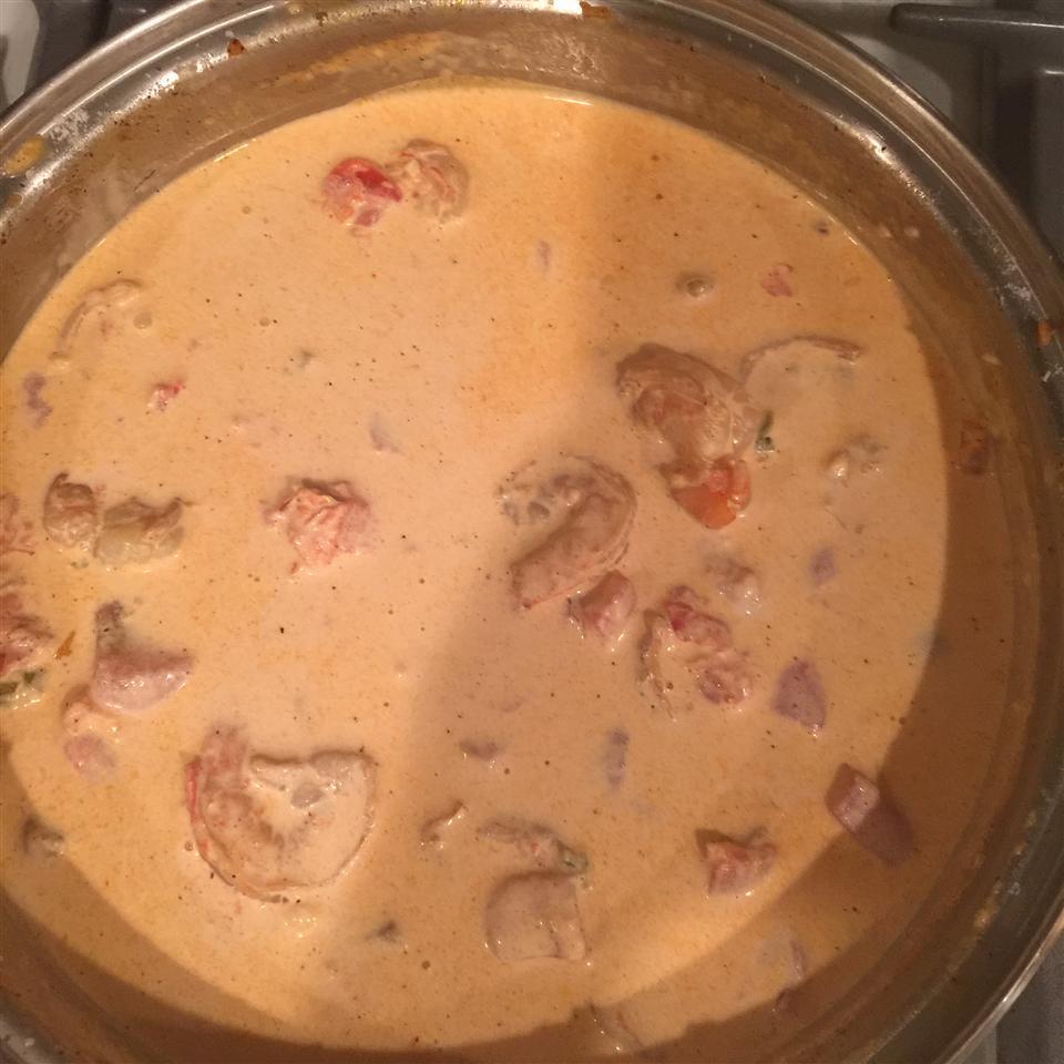 Spicy Shrimp in Cream Sauce Tricia