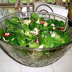 Spinach Ranch Salad THEBACONS2002