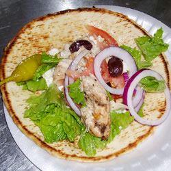 Chicken Souvlaki Gyro Style