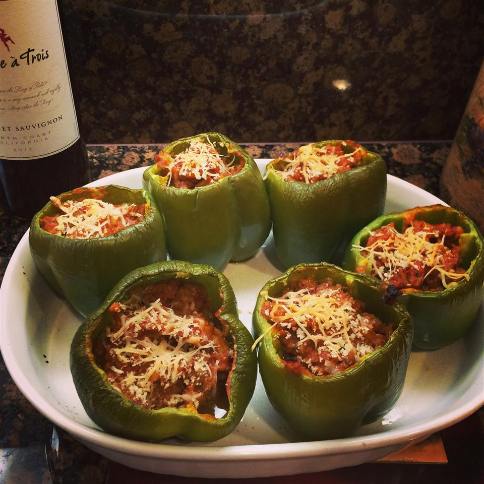 Bolognese Stuffed Bell Peppers Mrs.Pink