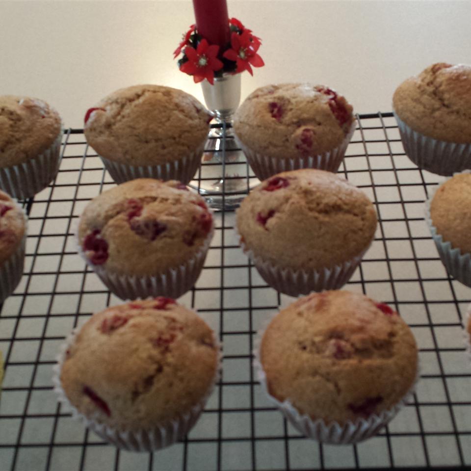 Lemon Cranberry Whole Wheat Muffins