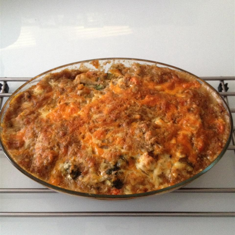 Quick Chicken and Stuffing Casserole